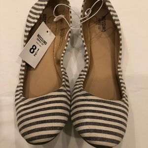NWT Mossimo stripe ballet flats slip on shoes